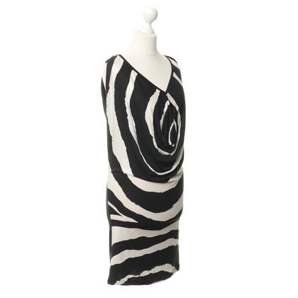 Plein Sud Kleid in Schwarz-Weiß