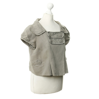 Hoss Intropia Short sleeve jacket in khaki