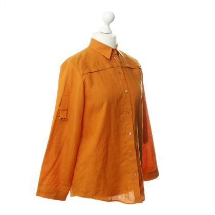 Loro Piana Leinenhemd in Orange