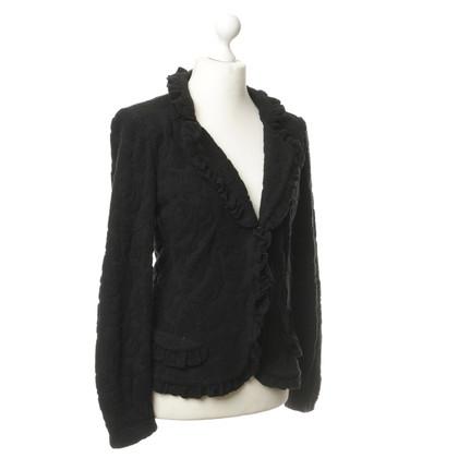 Armani Collezioni Textured jacket with ruffle trim