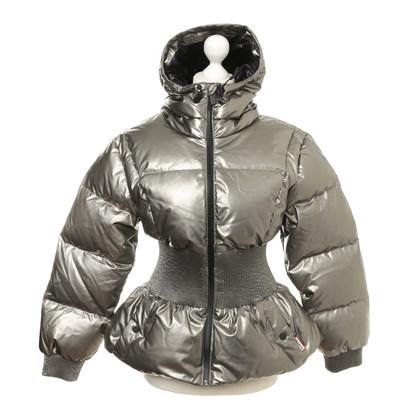 Hunter Gewatteerde jas met metalen coating