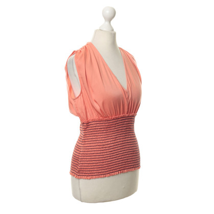 BCBG Max Azria Orange top with rubber detail