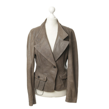 Hugo Boss Leather jacket with wide lapels