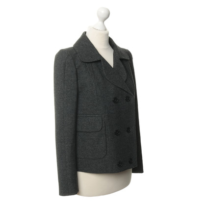 Carven Blazer in lana in verde-flecked