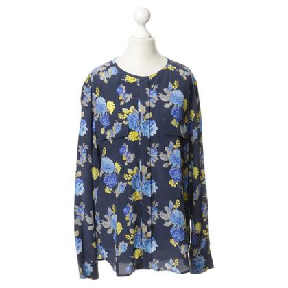 Equipment Zijde blouse met een bloemmotief
