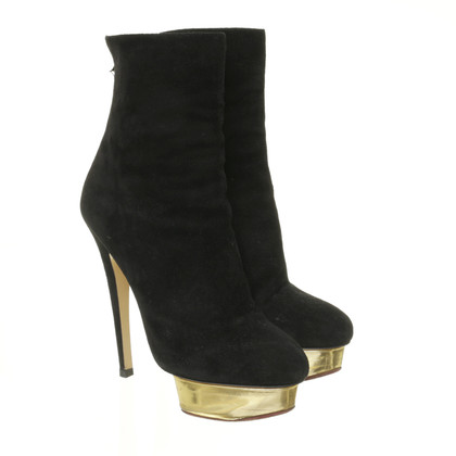Charlotte Olympia Ankle boots with Golden plateau