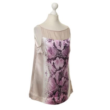 Just Cavalli Reptile-print silk top