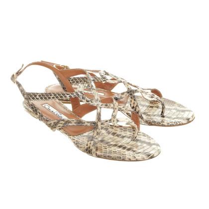 Oscar de la Renta Reptile leather sandal