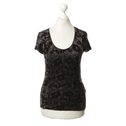 Armani Collezioni Brown top with flower design