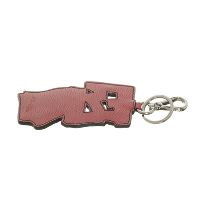 Prada Saffiano leather keychain