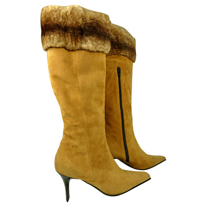 Casadei Boots with real fur detail