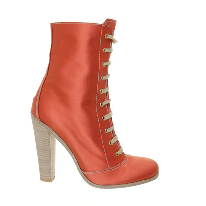Miu Miu Orange red ankle boots