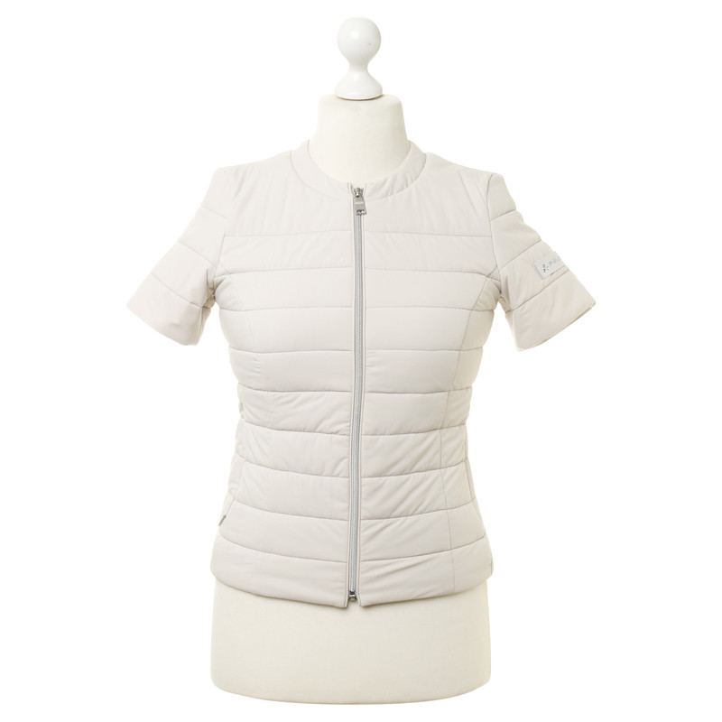 Peuterey Short sleeve Quilted Jacket in cream - Buy Second hand ...