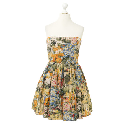Red Valentino Bandeaukleid with flowers print
