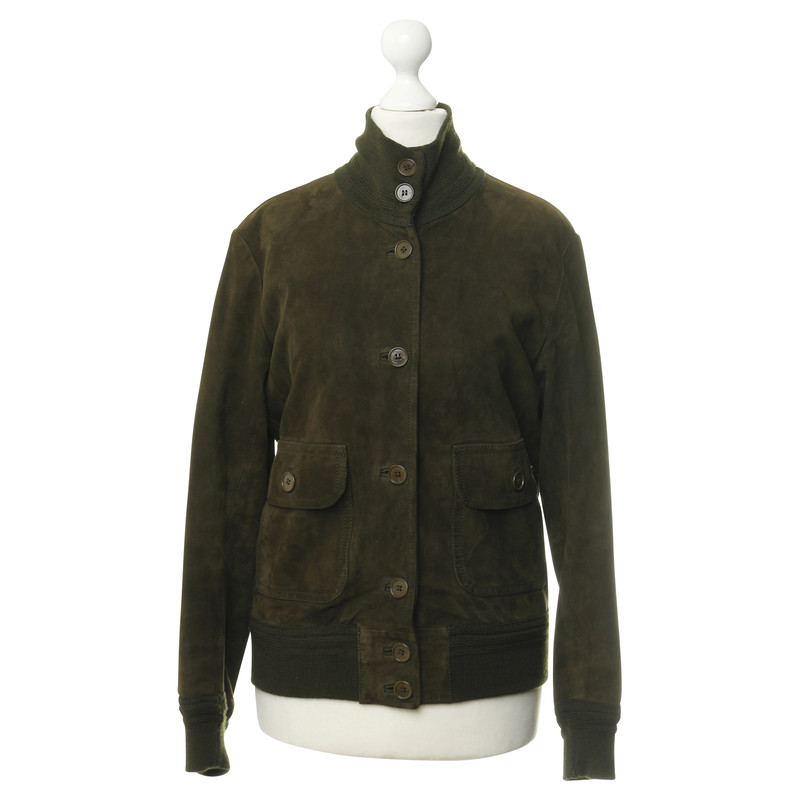 Aigner Green suede jacket