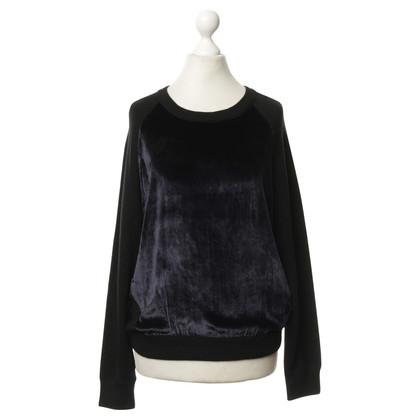 J Brand Zwarte trui met fluweel moment