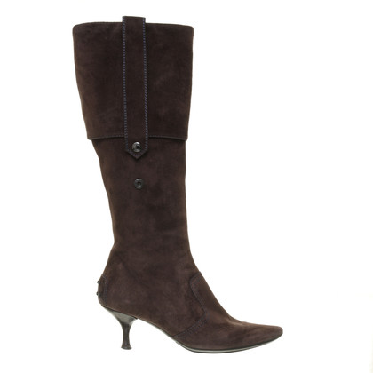 Tod's Suede boots with shank beaten to