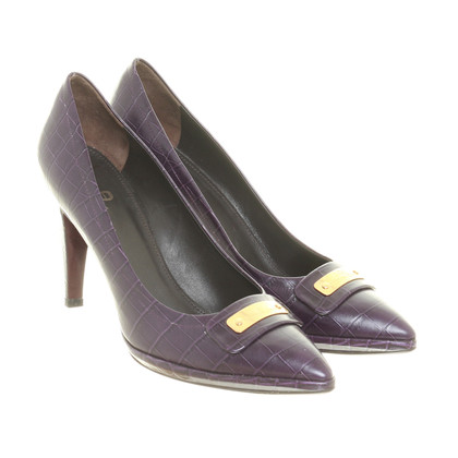 Aigner Pumps in Aubergine