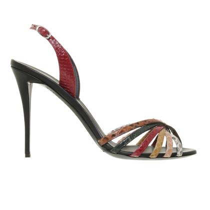 Giuseppe Zanotti Sandals made of reptile leather