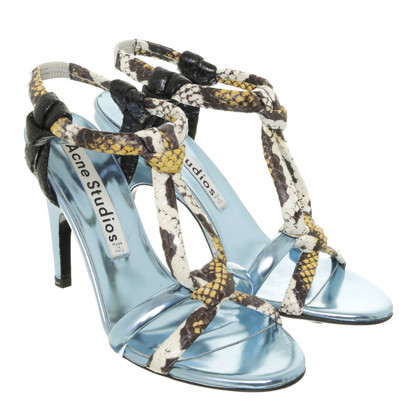 Acne Sandaletten in Blau-Metallic