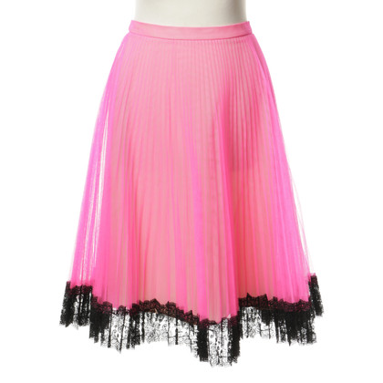 Christopher Kane Gonna in tulle con orlo in pizzo