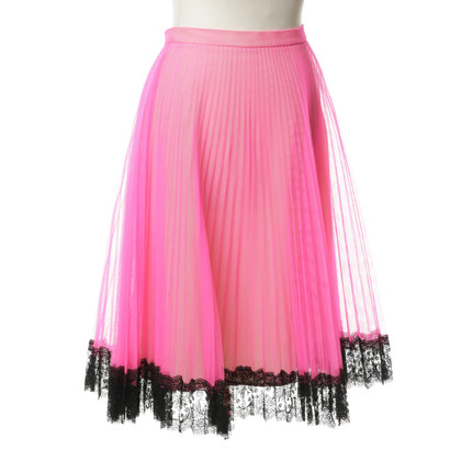 Christopher Kane Tulle skirt with lace hem
