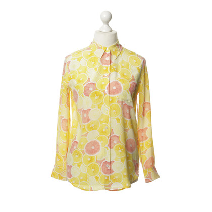 Equipment Bluse mit Zitronen-Print