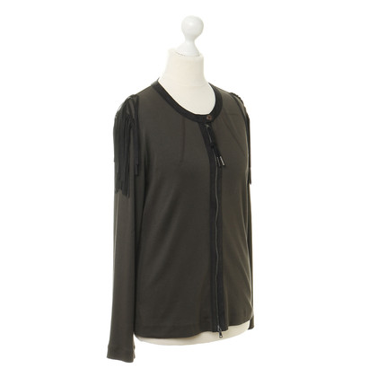 Marc Cain Cardigan with leather details