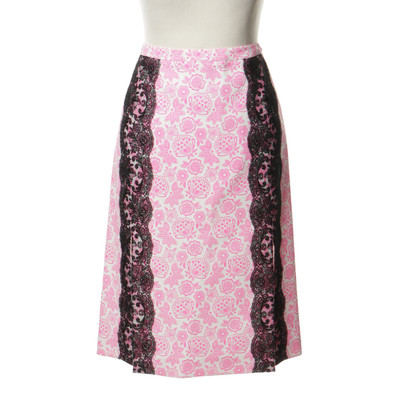 Christopher Kane Floral skirt with lace