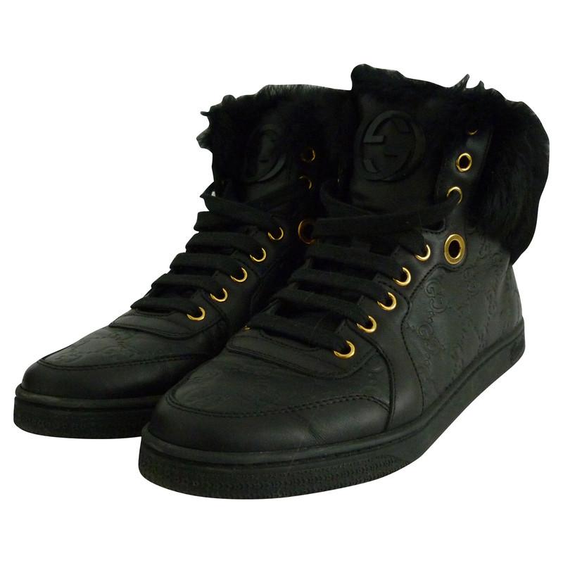 Gucci Sneakers Dames Met Bont
