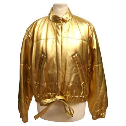 Yves Saint Laurent Leather bomber jacket