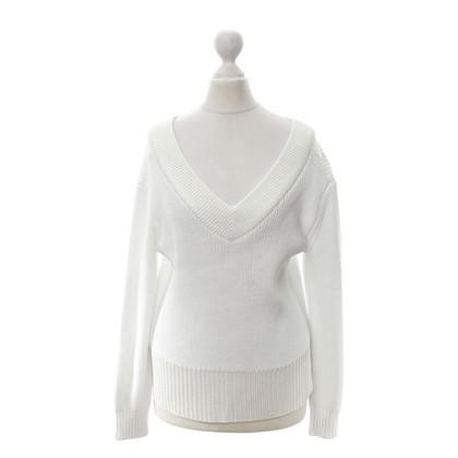 Rag & Bone Weißer Pullover mit V-Neck