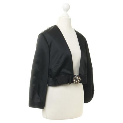 Valentino Black bolero jacket with jewel trim