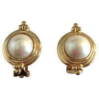 Christian Dior Gold-plated earrings with Pearl
