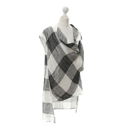Acne Plaid top 'Agnes check' in bianco e nero