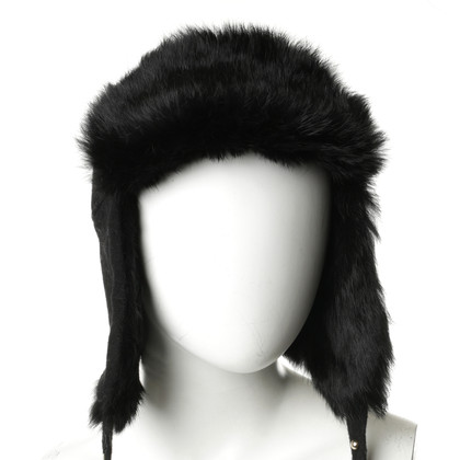 Hugo Boss Aviator hat with fur