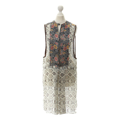 Isabel Marant Silk dress with a floral pattern