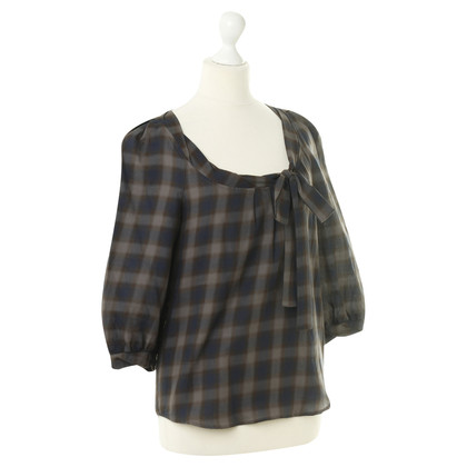 Comptoir des Cotonniers Checkered blouse with grinding detail