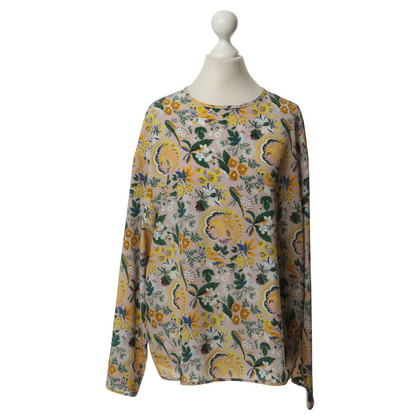 MSGM Silk top with floral print