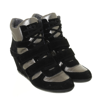 Ash Two-tone sneaker wedges