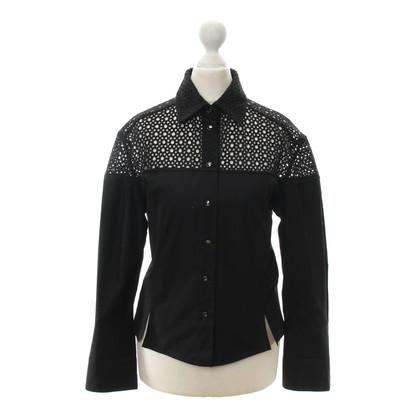 Alaïa Hole lace blouse