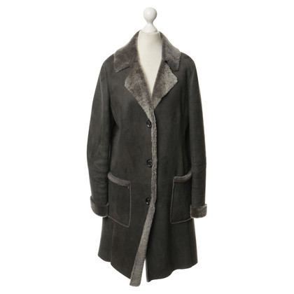 Aigner Sheepskin coat in grey