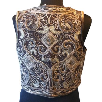 Antik Batik Geborduurde vest