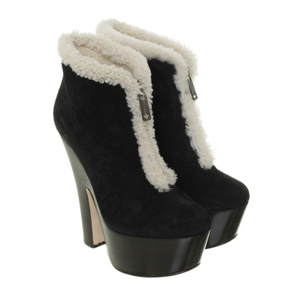 Dsquared2 Plateau ankle boots with lambskin lining