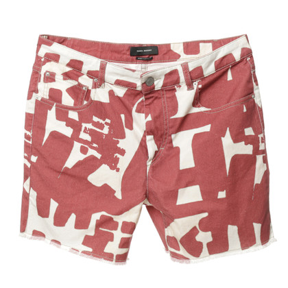 Isabel Marant Shorts 'Kimmy' in Rot und Creme