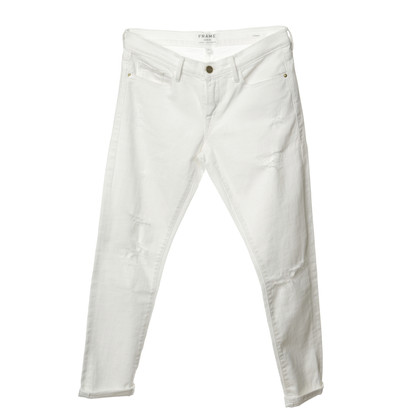 "Frame Denim Jeans ""Le Garçon"" in white"