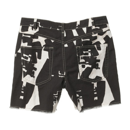Isabel Marant Shorts 'Kimmy' in black and white