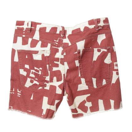 Isabel Marant Shorts 'Kimmy' in red and cream