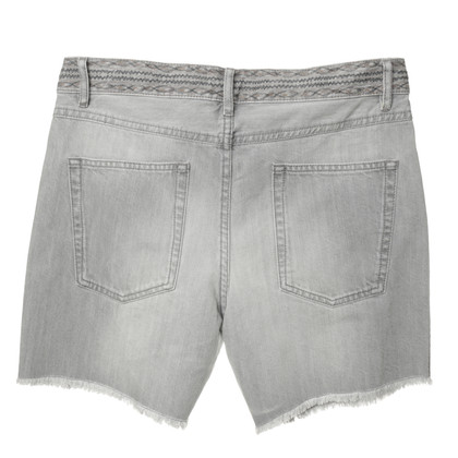 "Isabel Marant Etoile ""Agnes"" in grey denim shorts"