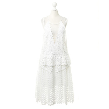 Erdem Pinafore dress with white lace